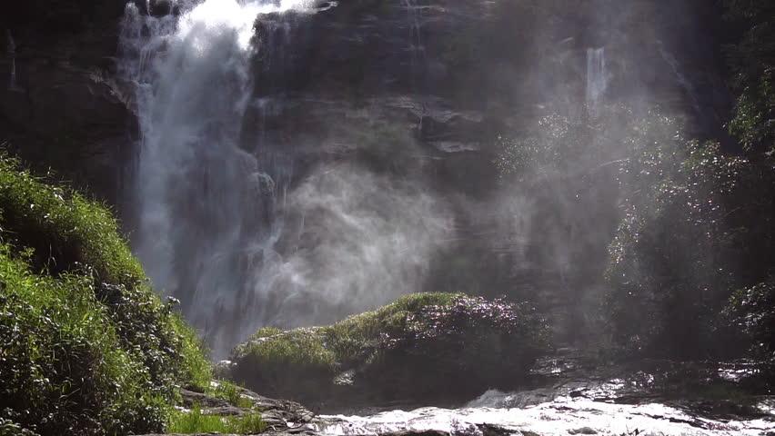 Wachirathan Waterfall at Doi Inthanon National Park, Chiang Mai Thailand