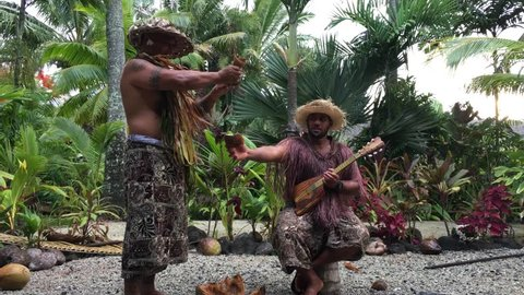 Cook Islanders explain about the coconut fruit benefits in Rarotonga, Cook Islands