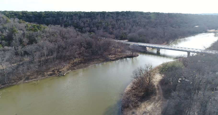 Bridges over Sparrow Creek in Graham, TX. Sparrow Creek feeds off the Brazos River.