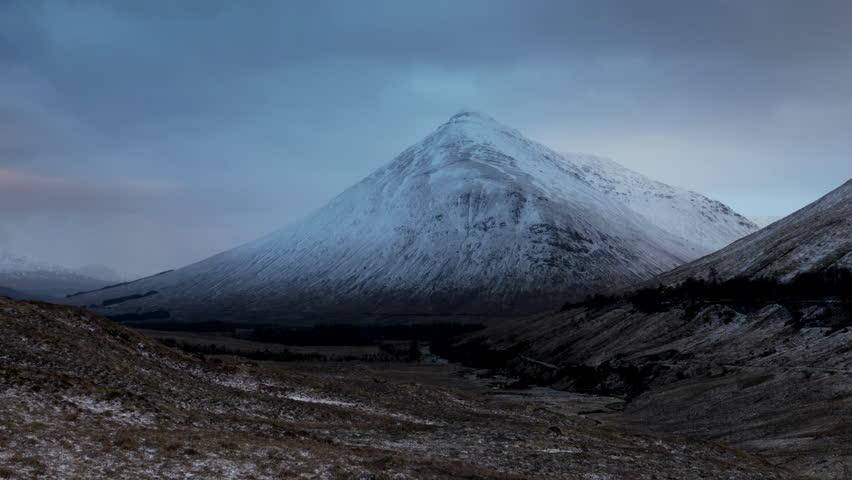 Establishing Shot - Beinn Dorain in the Scottish Highlands at Sunrise