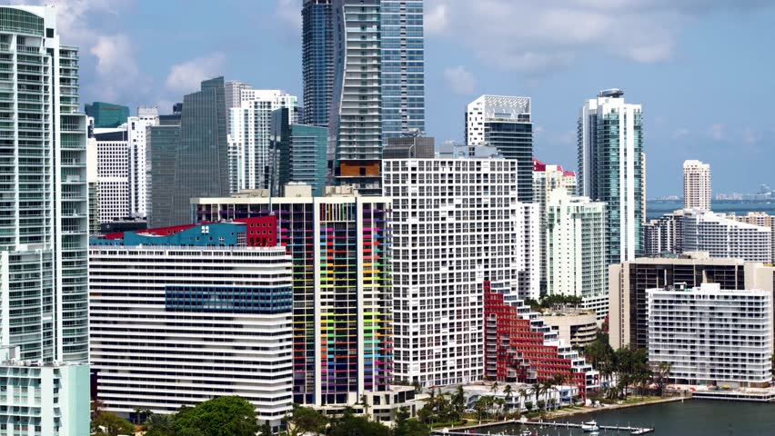 Downtown Miami Flyover by Aerial Drone