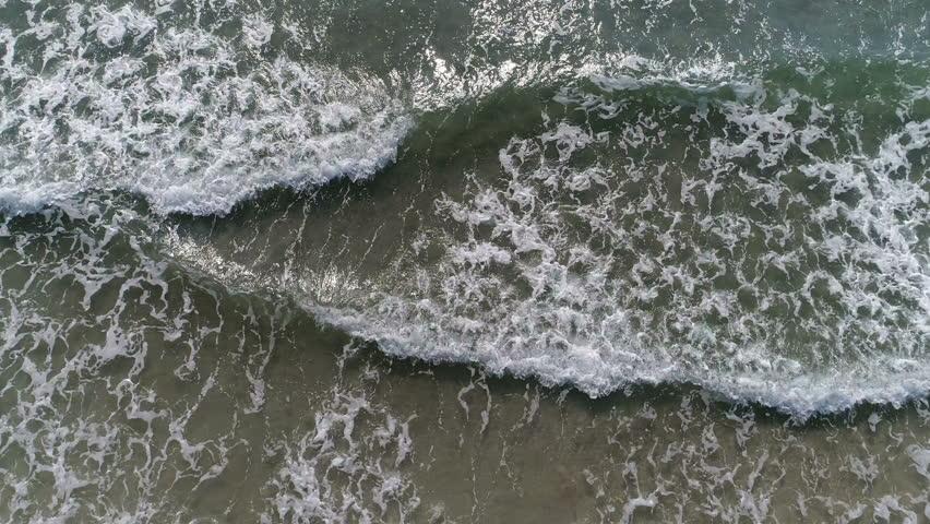 Sea Beach Waves Aerial | Shutterstock HD Video #1009222442