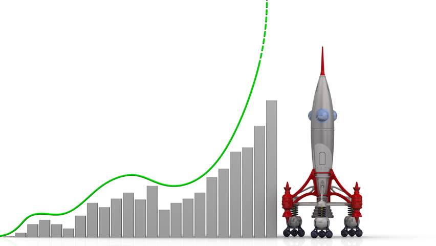 The growth of quality indicators. Graph of rapid growth with word QUALITY (Russian language) and rocket launch. Footage video | Shutterstock HD Video #1009286462
