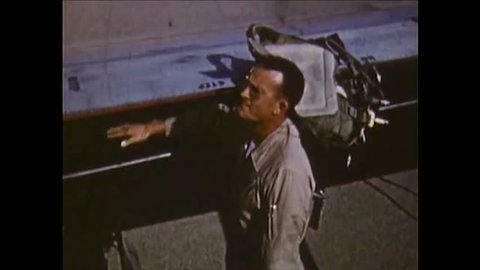 CIRCA 1950 - Arthur Godfrey flies in an Air Force fighter in 1953 and breaks the sound barrier.
