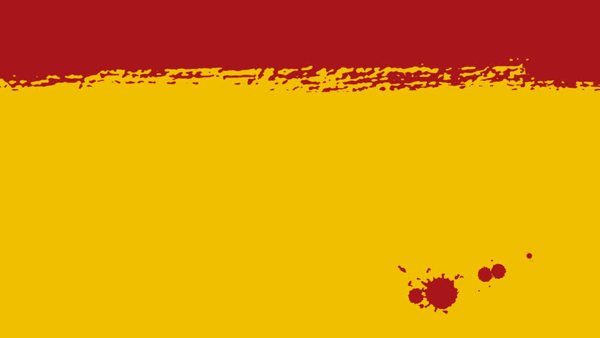 Flag of Spain - Drawing Spanish Flag by Brush Strokes