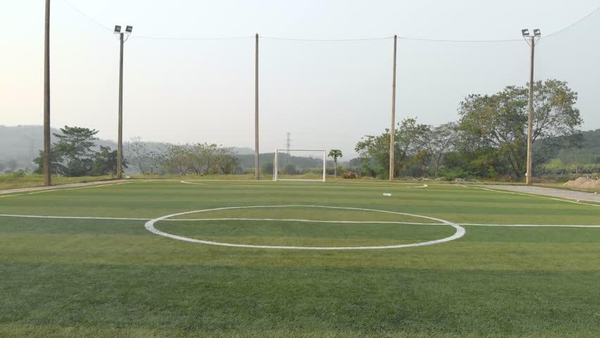 Outdoor futsal, soccer court in public university