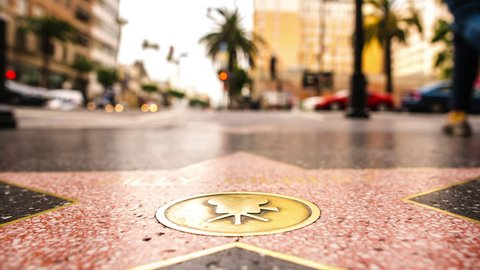 Hollywood walk of fame time lapse
