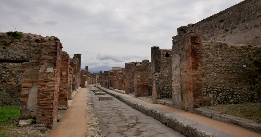Ruins of Pompei, Italy. Archeological park near Naples. | Shutterstock HD Video #1009375502