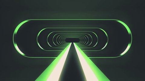 endless neon shiny ribs lights energy cyber retro Virtual reality tunnel flight motion graphics animation seamless background new quality futuristic vintage style cool nice beautiful video footage
