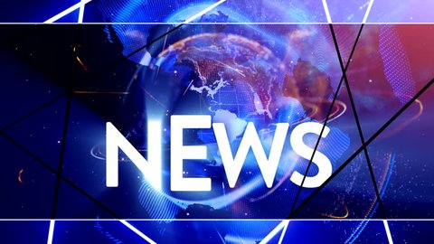 Broadcast transmitter Graphics Breaking News growth page animation News weather world News presentation three different themes Animation of Broadcast news earth globe opening led Intro title animation