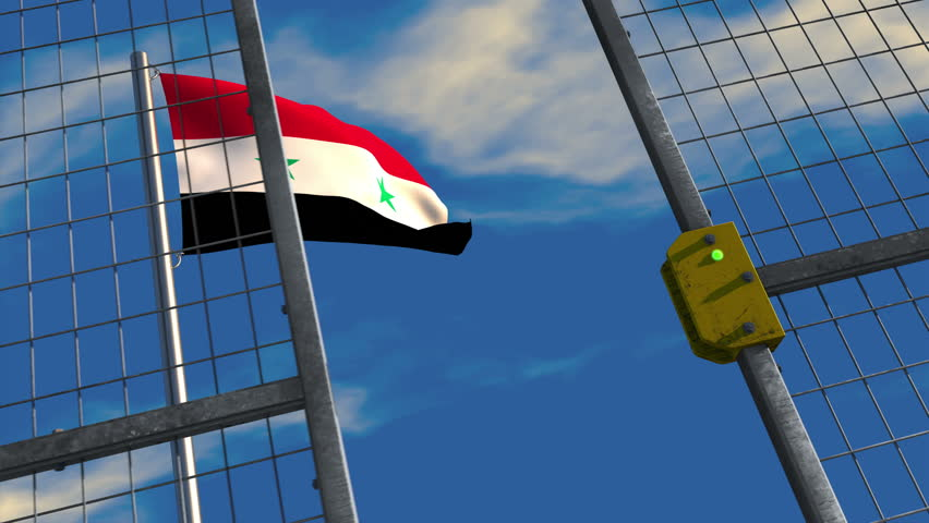 Flag of the syrian republic Stock Video Footage - 4K and HD Video ...