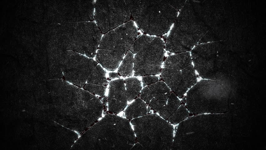 Abstract background with animation of burning fire or lava from cracks on stone surface and flying glowing particles. Animation of seamless loop. | Shutterstock HD Video #1009436192