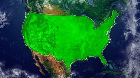 UNITED STATES OF AMERICA DIGITAL MAP