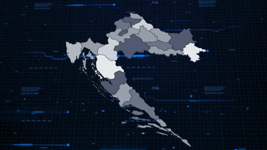 Croatia Network Map