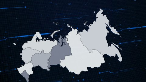 Russia Network Map