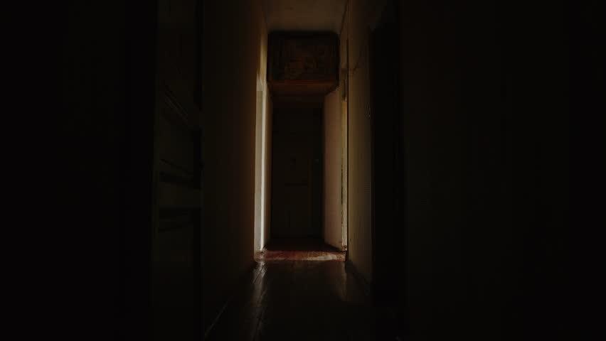 Dark hallway in a communal flat in St. Petersburg, Russia
