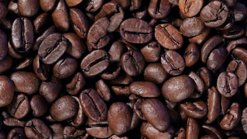 Coffee Beans Rotating in Frame