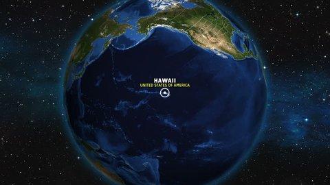 HAWAII Map USA - Earth Zoom