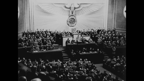 CIRCA 1943 - Germany under Hitler prepared to invade Poland and claim Danzig and the Polish Corridor in the fall of 1939.
