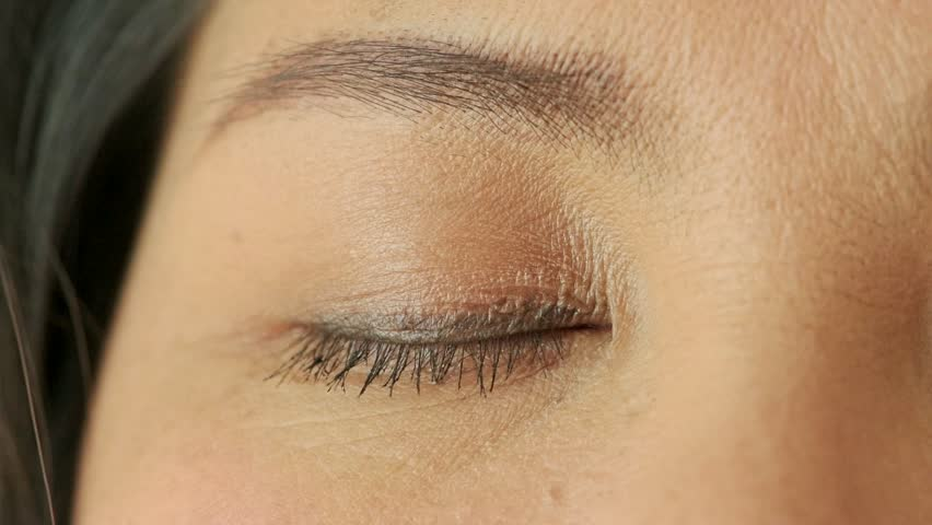 Close up of Chinese woman with her eye close. | Shutterstock HD Video #1009688252