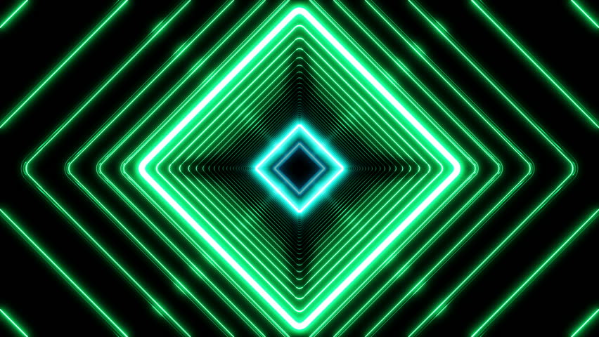 Beautiful Abstract Square Tunnel with Light Lines Moving Fast. Different Colors Rainbow. Background Futuristic Tunnel with Neon Lights. Looped 3d Animation Art Concept. 4K Ultra HD 3840x2160.  | Shutterstock HD Video #1009709402