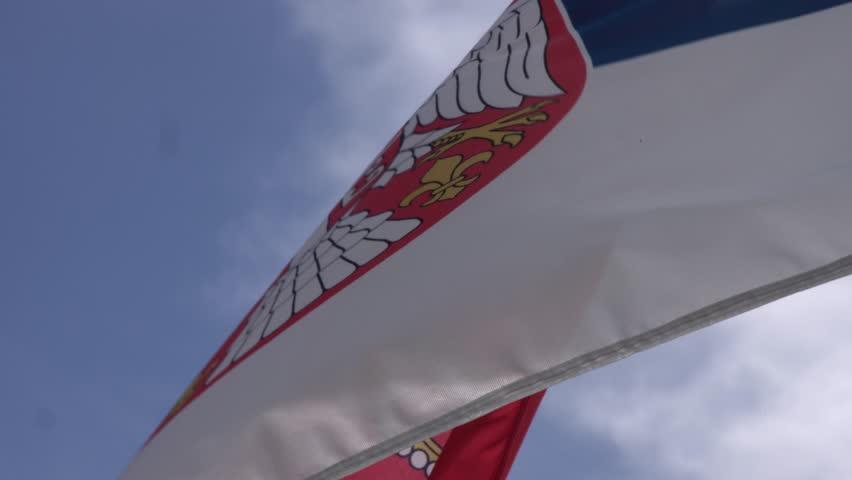 Serbian national flag