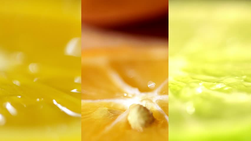 Citruses close up. Beautiful juicy yellow orange and green lime. Several frames on one video. citrus fruits collage.collage. | Shutterstock HD Video #1009919672