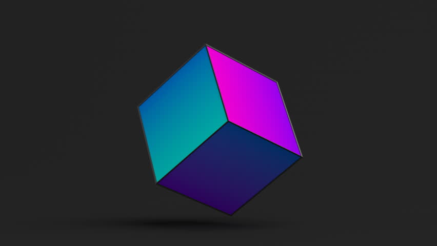 Abstract 3d rendering of rotating cube. Cgi loop animation. Modern background with geometric shape. Balance concept. Seamless motion design for poster, cover, branding, banner, placard. 4k UHD   Shutterstock HD Video #1009948592