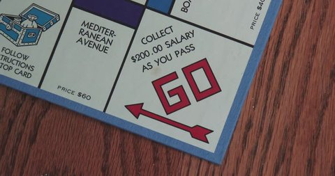 March 31, 2018, Bettendorf, Iowa, Monopoly Game Board - Go space