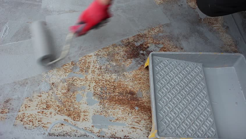 Painting Rusted Surfaces. Anti-rust paint for metal