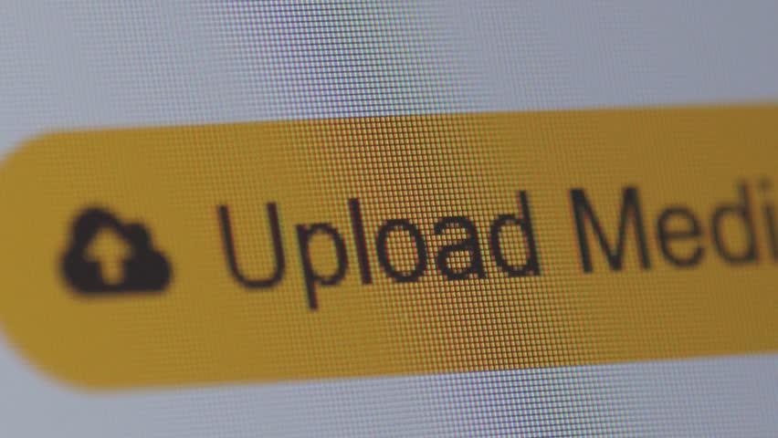 clicking upload new media button, macro