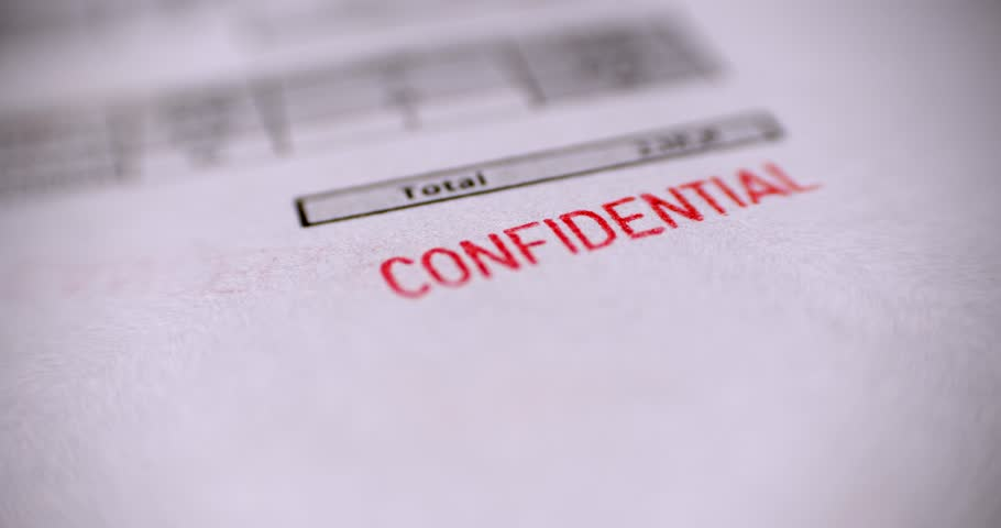 'CONFIDENTIAL' Red Stamp over a white background. | Shutterstock HD Video #1010073002