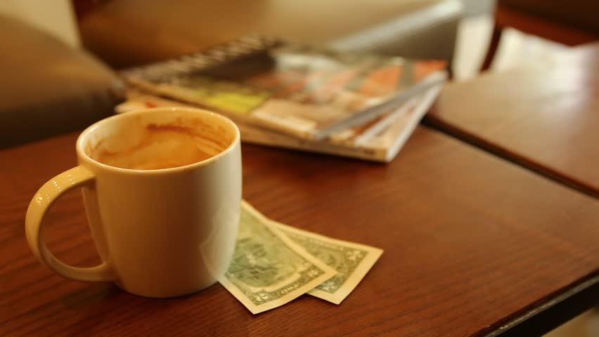 Coffee Newspaper money Business Concept in the morning | Shutterstock HD Video #1010073452