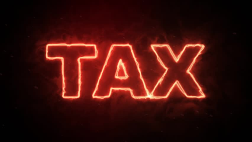 Tax word text from hot burning letters on dark background | Shutterstock HD Video #1010132702