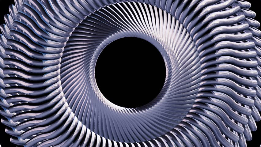 Fluid moving rotating silver metal chain eye circles seamless loop animation 3d motion graphics background new quality industrial techno construction futuristic cool nice joyful video footage