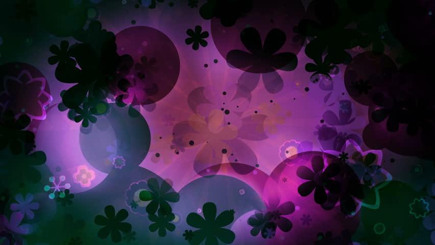 Retro flowers looping animated sixties CG backdrop   Shutterstock HD Video #1010209682