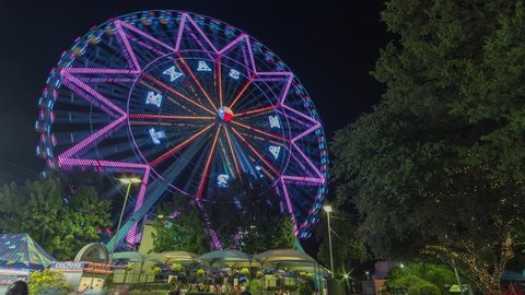 Dallas - Texas Star Ferris Wheel - Time Lapse