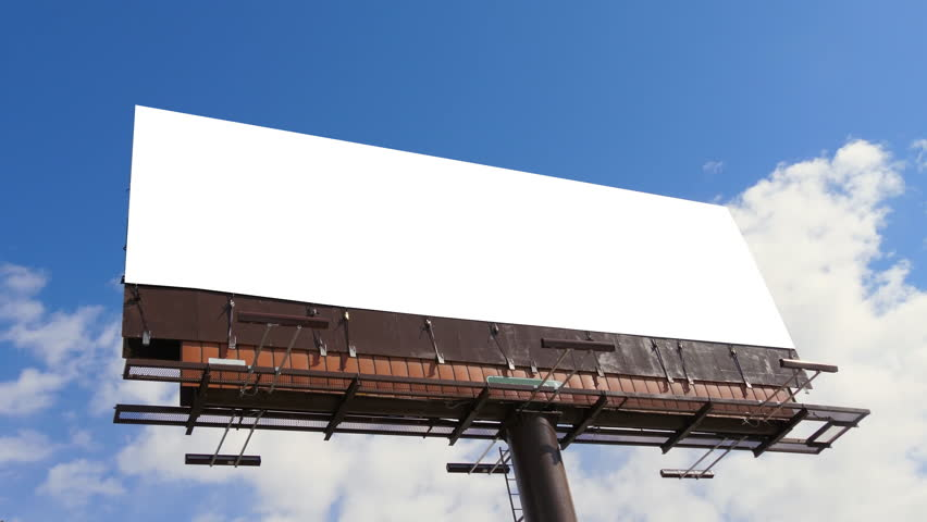 Blank Billboard Outdoor Advertisement Mockup, Bright Blue Sky Background | Shutterstock HD Video #1010359172