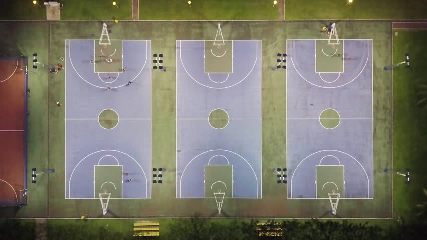 Flooded basketball court Footage | Stock Clips