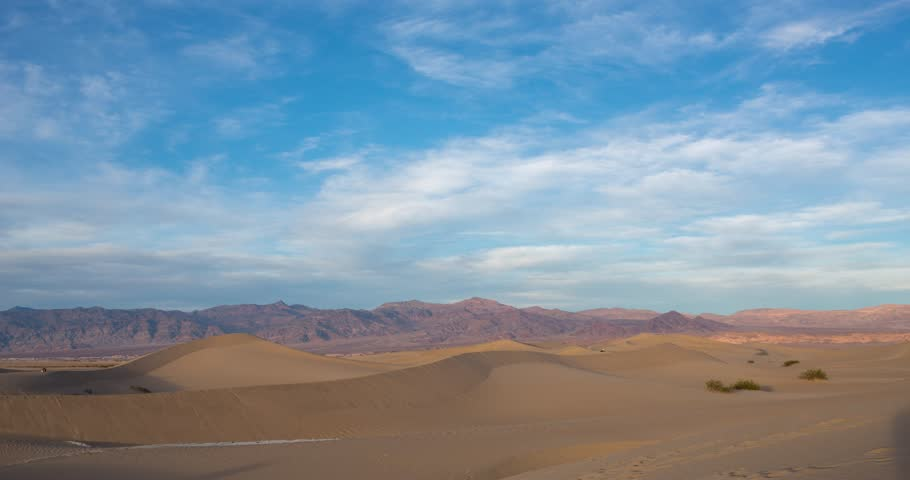 Sunset timelapse at Mesquite dunes in Death Valley, California, USA #1010384012
