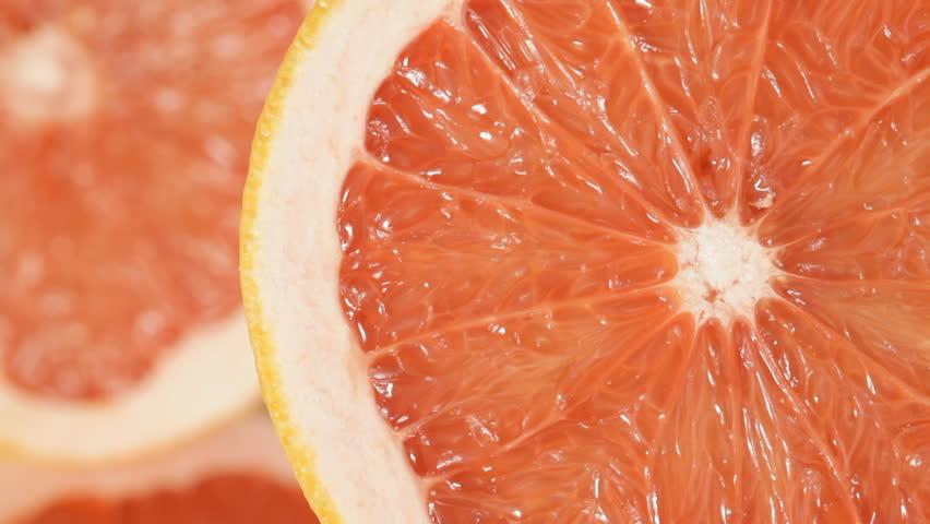 Close up of rotating Grapefruit.  #1010403842
