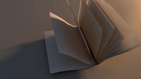 OPEN FOLDEN BOOK