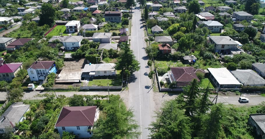 Aerial view resort town Gagra, Abkhazia, Georgia   Shutterstock HD Video #1010480402