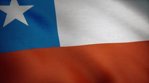 Chile national flag. Chilean flag waving animation