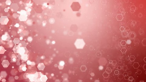 Rose gold hexagon sparkles glitter animation.