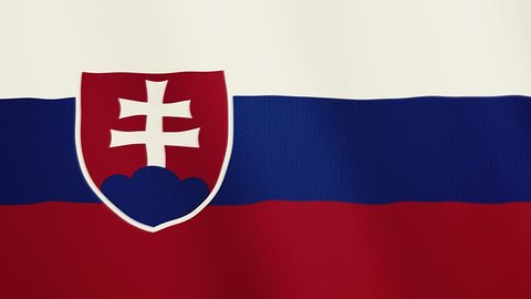 Slovakia flag waving animation. Full Screen. Symbol of the country.