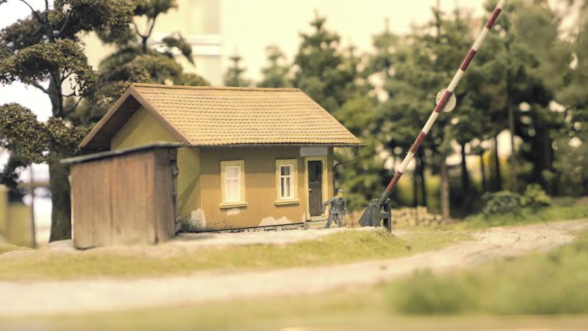 Model Railroad Track  Miniature Train Stock Footage Video (100%  Royalty-free) 1010569022 | Shutterstock