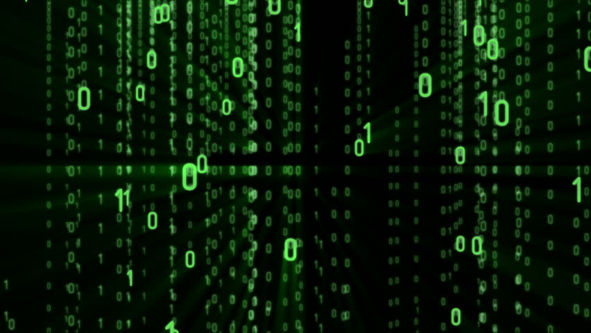 Upgrade text on abstract matrix background. Binary Computer Code. Coding and Hacker concept. Motion Tech Background. Available in 4K FullHD and HD video render footage.