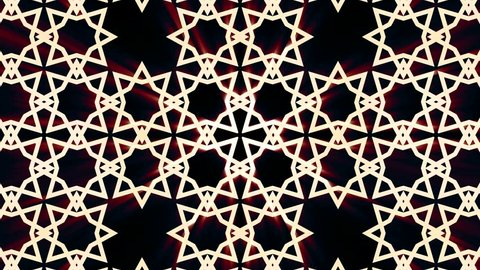 Kaleidoscopic Arabic ornamental pattern animattion