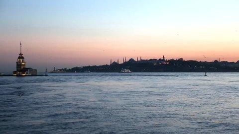 bosporus from uskudar, maiden's tower, landmark from istanbul